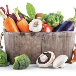 Cesta de verduras ecológicas