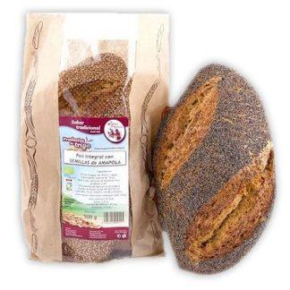 Pan-oval-de-trigo-con-semillas-de-amapola-ecológico - COMEDELAHUERTA